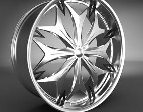 car 3D Wheel Rim