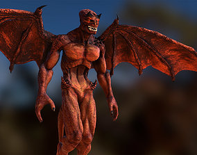 animated game-ready 3DRT Gargoyle monster