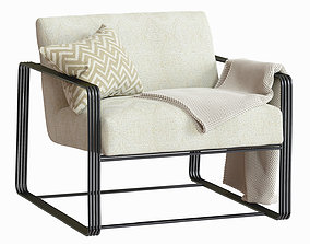 3D Vince Lounge Chair Frost Chenille