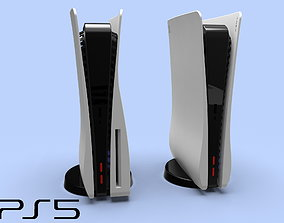 PS 5 and PS5 Digital Edition case 3d model for printing