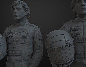 3D Printable figure of Ayrton Senna