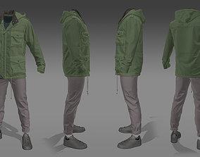 3D model Parka Jacket - Marvelous Designer Clothing