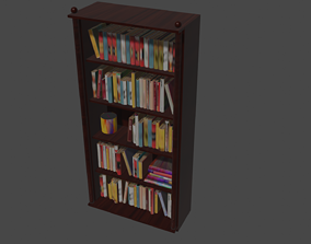Bookcase for library interior 3D