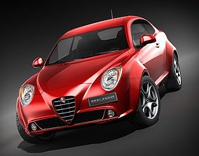 3D model Alfa Romeo MiTo 2009 HiPoly