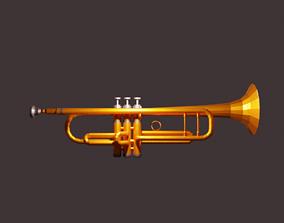 3D asset Basic Trumpet