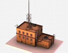 Futuristic ghetto building 3D asset