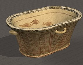 3D model Minoan Painted Bathtub - Pachyammos Crete 1350 3