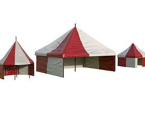 Circus tents 3D model