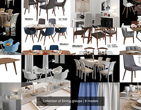 Collection of Dining groups 3D model