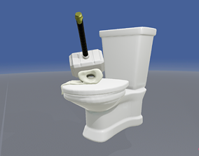 Memes Attack The Hammer of Thor Toilet 3D print model