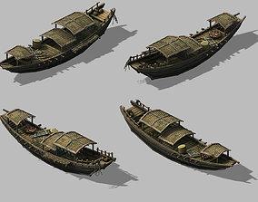 3D model Game Pier - Fishing Boat 2701