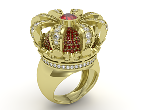 3D printable model Crown ring - FODA