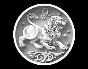 Leo astrology sign pendant 3D printable model