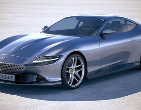 Ferrari Roma 2020 VRAY 3D model
