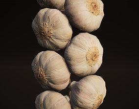 3D asset Garlics Game Ready