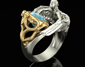 3D print model Topaz Angel Ring