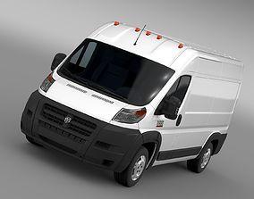 3D model Ram Promaster Cargo 2500 HR 136WB 2015