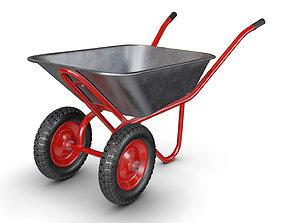 Wheelbarrow Red 3D model