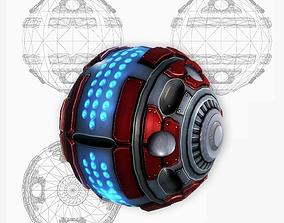 Sci-fi grenade-mine low poly 3D asset