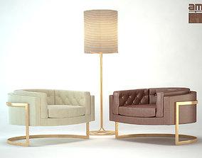 3D model Milo Baughman chair