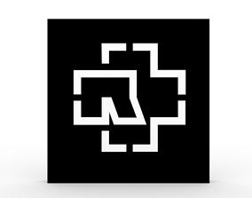 3D model low-poly Rammstein - logo