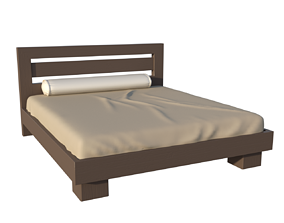 bed VR / AR ready Bed 3d Model