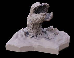 3D print model Desert worm in dunes sci fi creature