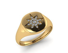 wedding 3D printable model Jewelry Ring