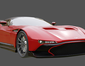 aston martin vulcan car 3D model