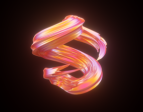 3D model Twisted Abstract Object