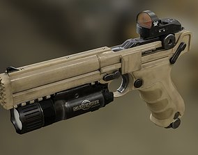 3D model Luger P08 Desert Tacticool