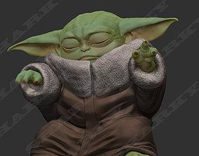 baby yoda force 1 pose 3D printable model
