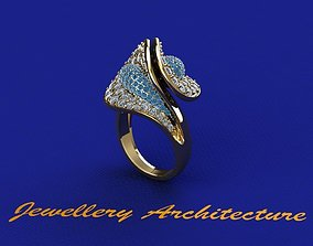 Design Ring Two Piece 3D print model