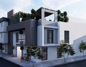 Modern house villa 3D model interior and exterior - 1