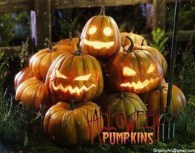 3D model Halloween pumpkins and other stuff
