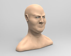 Male head sculpt 3D model