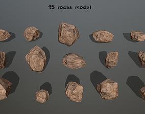 snow 3D asset realtime rocks