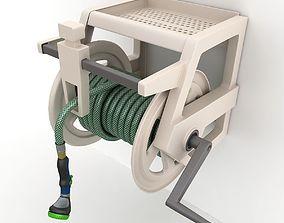 Hose reel wall mount 02 3D model