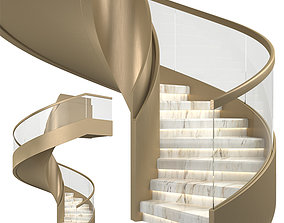 3D model Spiral staircase 04