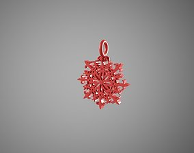 3D print model Snowflake decorations chrismass tree
