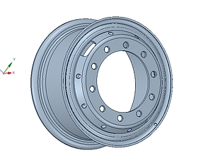 real wheel for trailers and vehicles ready 3d print