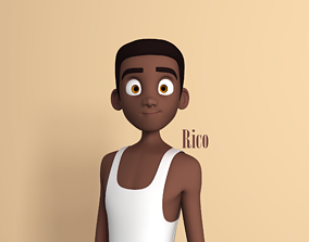 3D model Rico Stylised Male Teen character AR friendly 1
