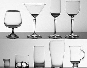 Glasses Set 3D model