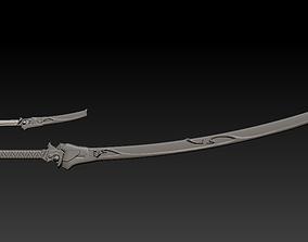 Oni Genji sheaths and swords 3D print model