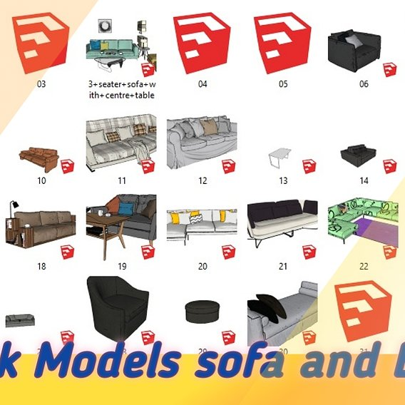 PACK MODERN SOFA AND BED