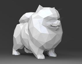 3D print model Low Poly Pomeranian STL for