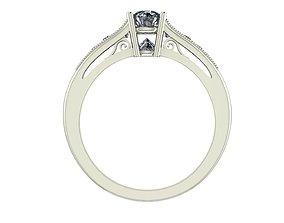 3D printable model Inverted Diamond Engagement Ring