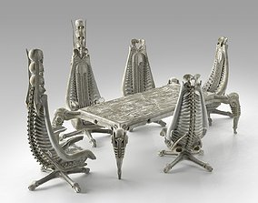 3D model Harkonnen Table and Chairs