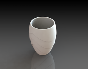 Flower Glass Vase 3D Printed