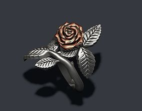 jewelry Rose ring 3D print model